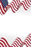 diseño de vector de icono de bandera de Estados Unidos
