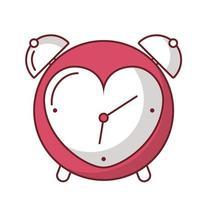 amor corazón dentro de la burbuja dentro de diseño vectorial de reloj