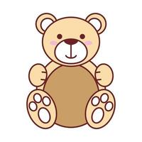 Isolated teddy bear vector design