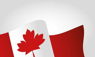 Canadian flag for happy canada day vector design