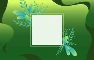 Elegant Floral Glowing Green Background vector