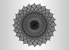 Black ornamental, floral and abstract arabesque mandala design vector