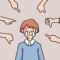 persona deprimida triste fracaso sin inspiración ilustración de dibujos animados lindo decepcionado vector