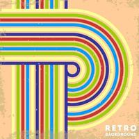Retro grunge texture background with vintage striped lines
