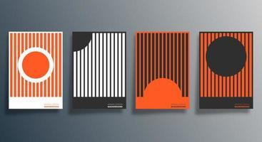 Diseño geométrico mínimo para flyer, póster, portada de folleto, fondo, papel tapiz, tipografía u otros productos de impresión. ilustración vectorial