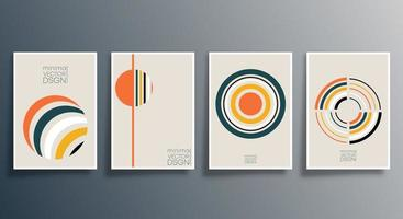 conjunto de diseño minimalista geométrico