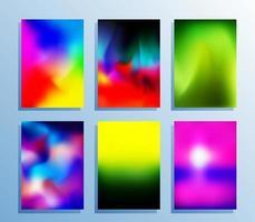Gradient texture set for poster set vector