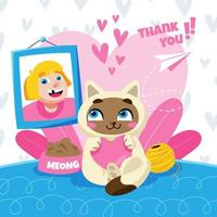 Valentine with Lovely Pet vector