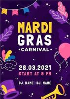 Colorful Mardi Gras Poster Template