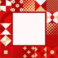 Abstract Geometric Christmas Background vector