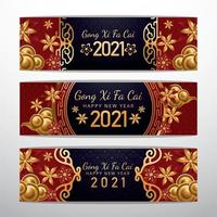 Chinese New Year Banner Concept vector
