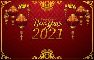 Chinese New Year Background Concept vector