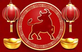 Realistic Chinese New Year Post Card