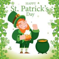 St Patrick's Day Background Concept vector
