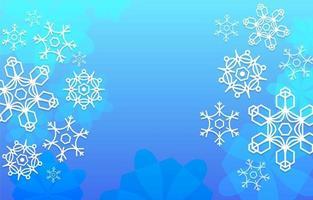 fondo de copos de nieve naturales vector