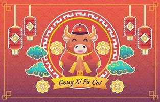 Colorful Chinese new year background