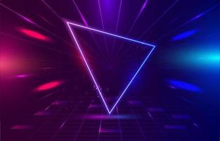 fondo de luz de neón geométrico vector