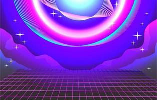 Neon Wire Background vector