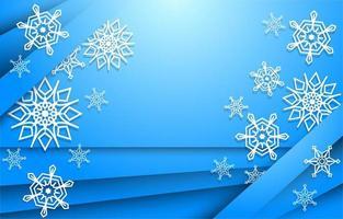 fondo de papel de copos de nieve vector