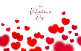 Happy Valentine's day repeating background vector