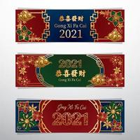 Chinese New Banner Concept vector