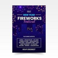 New Year Fireworks Festival Poster vector