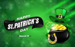 St. Patricks Day Background vector