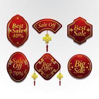 Chinese New Year Festivity Marketing Label vector
