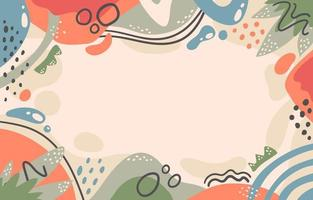 Abstract Hand Painted Background vector