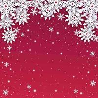 Paper Cut Snowflakes Background