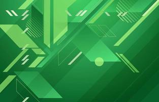 Fondo de concepto de techno abstracto verde futurista vector