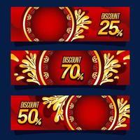 banner de marketing de año nuevo chino vector