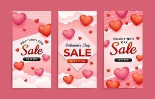 Valentines's Day Sale Banner vector
