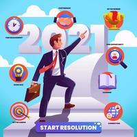 ilustración de la resolución de año nuevo vector