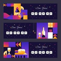 Retro New Year Party Countdown vector