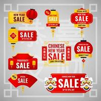 Chinese New Year Sale Label vector