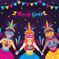 Mardi gras dancer carnival vector