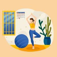Modern Healthy Lifestyle vector