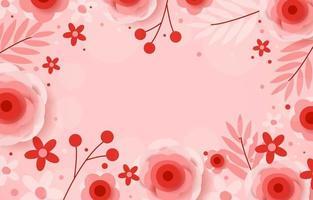 Valentine's Flower Background vector