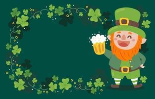 Cute Leprechaun St Patrick's Day Background