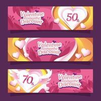 Valentine Marketing Banner vector