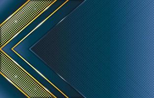 Gradient Blue Gold Triangle and Dots Pattern Composition