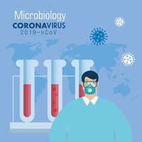 microbiología con tubos de prueba para covid 19
