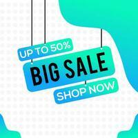 Big sale social media template vector