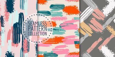colección de patrones sin fisuras de formas abstractas vector