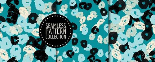 Blue seamless pattern with flowers