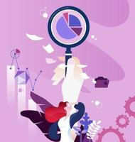 Marketing research concept vector