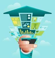 vector de concepto de negocio en línea