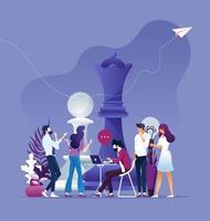 estrategia y planificación, vector de reunión de negocios