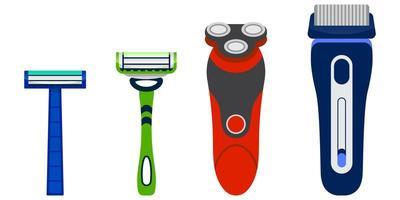 Set of men's razors. vector